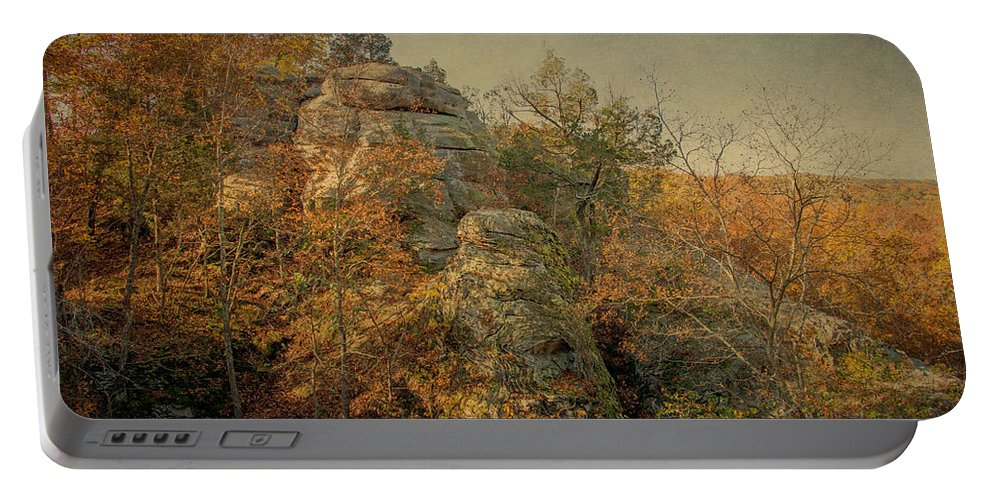 Shawnee National Forest Portable Battery Charger featuring the photograph Rock Formation by Sandy Keeton