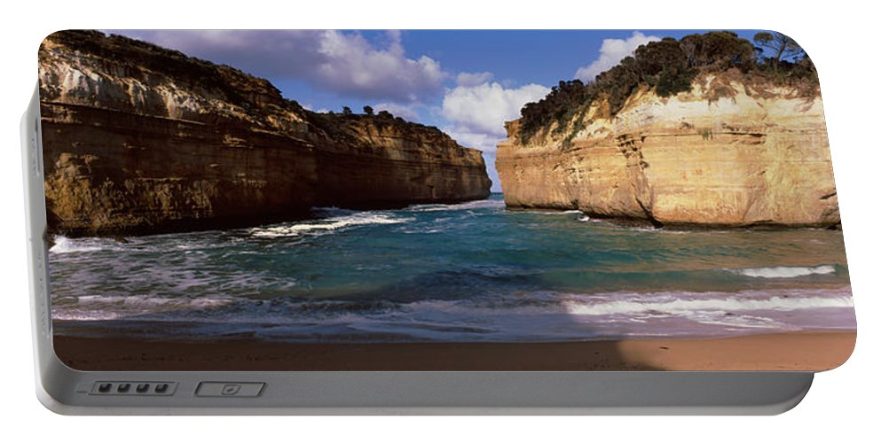 Photography Portable Battery Charger featuring the photograph Rock Formations In The Ocean, Loch Ard by Panoramic Images