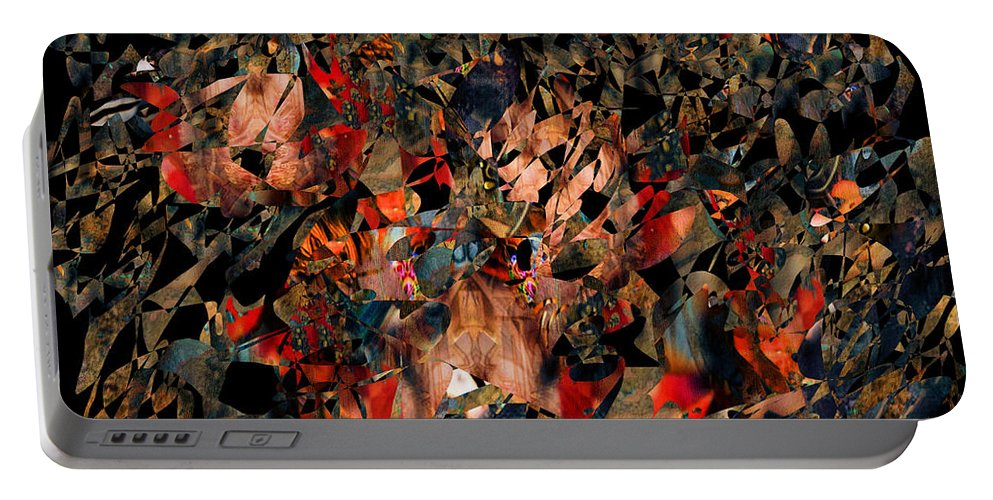 Colorful Portable Battery Charger featuring the digital art Rock Garden by Mike Butler