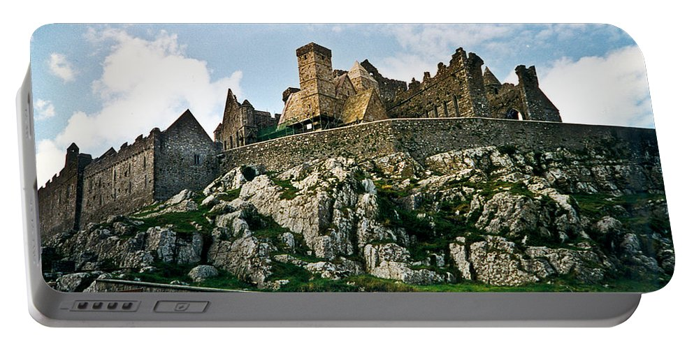 Rock Portable Battery Charger featuring the photograph Rock Of Cashel Castle Ireland by Douglas Barnett