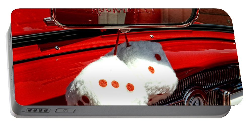 Cars Portable Battery Charger featuring the photograph Rockabilly Lovers by Kristie Bonnewell