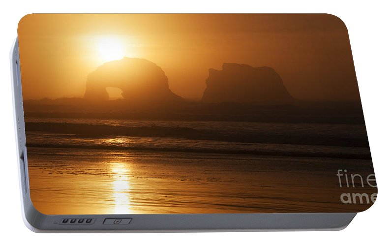 Rockaway Beach Portable Battery Charger featuring the photograph Rockaway Beach by Vivian Christopher