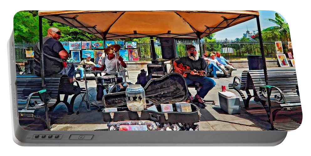 New Orleans Portable Battery Charger featuring the photograph Rockin' The Square by Steve Harrington