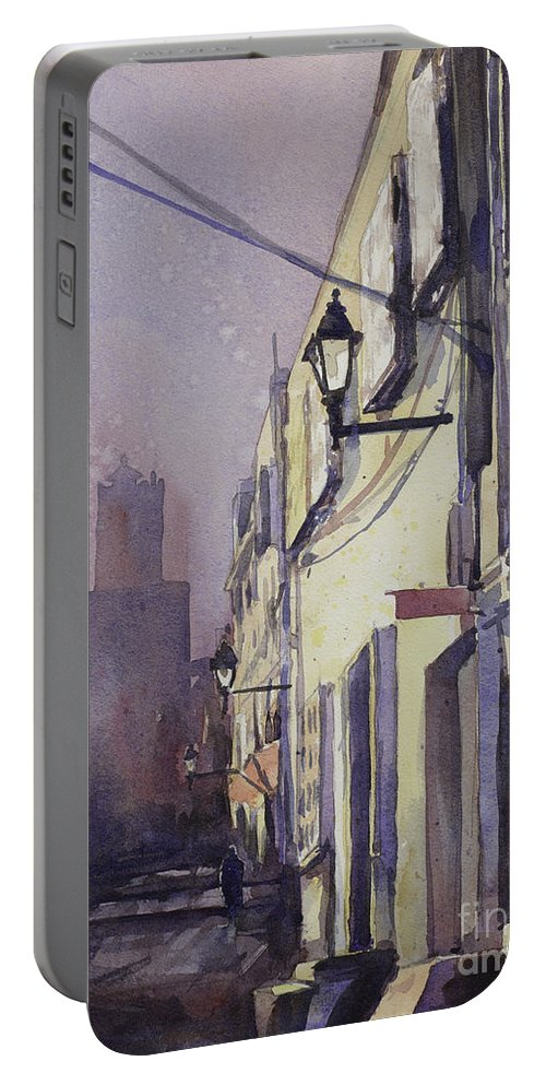 Painting Portable Battery Charger featuring the painting Rocking The Kasbah by Ryan Fox