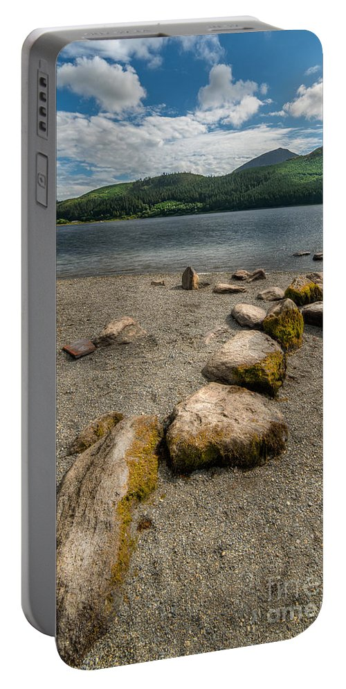 Hdr Portable Battery Charger featuring the photograph Rocky Beach by Adrian Evans