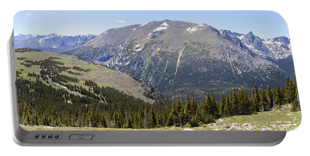 Panorama Portable Battery Charger featuring the photograph Rocky Mountain National Park by Greg Wells