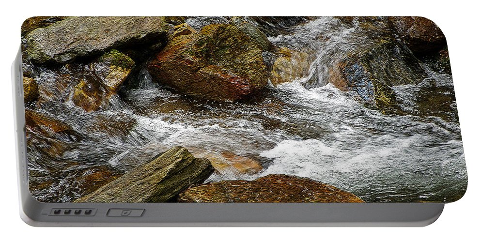 Rocky River Portable Battery Charger featuring the photograph Rocky River 2 by Lydia Holly