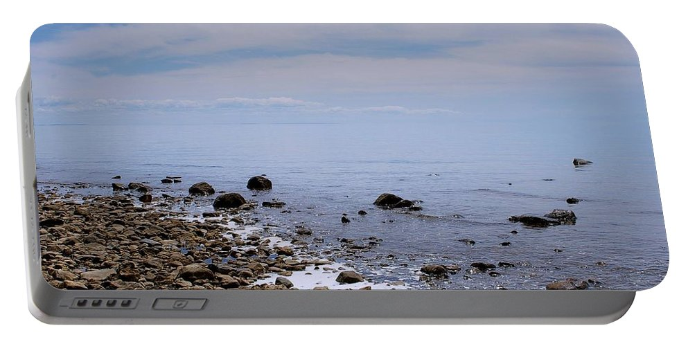 Rocky Portable Battery Charger featuring the photograph Rocky Shores by Randy Pollard