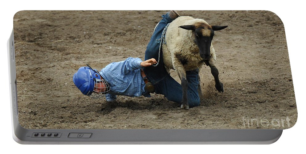 Velcro Portable Battery Charger featuring the photograph Rodeo Velcro Rider 3 by Bob Christopher