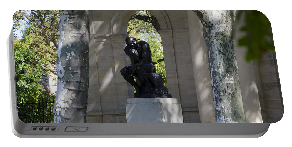 Rodin Portable Battery Charger featuring the photograph Rodin Museum - Philadelphia by Bill Cannon