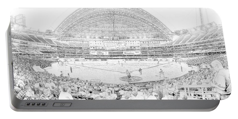 Rogers Centre Portable Battery Charger featuring the photograph Rogers Centre Line by C H Apperson