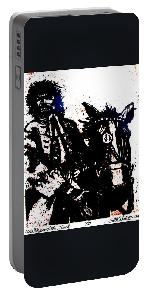 English Highwayman Portable Battery Charger featuring the mixed media Rogue of the Road by Seth Weaver