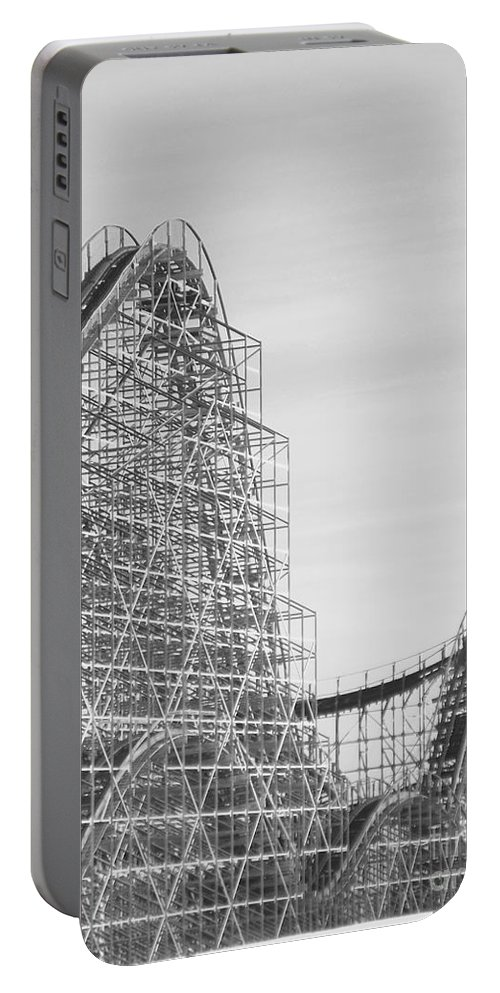 Roller Coaster Portable Battery Charger featuring the photograph Roller Coaster Wildwood by Eric Schiabor