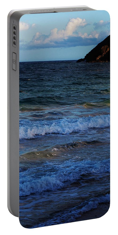 Ocean Portable Battery Charger featuring the photograph Rolling In by Ian MacDonald