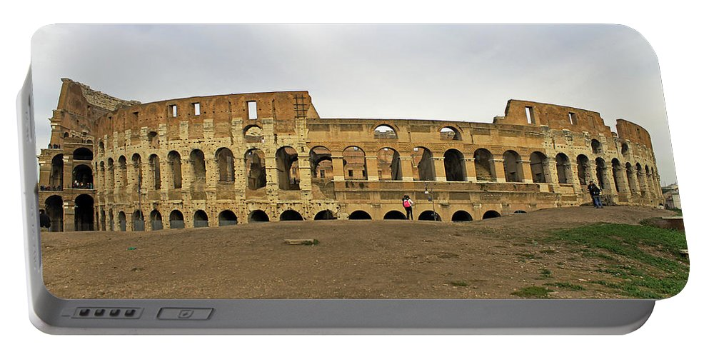 Roman Colosseum Portable Battery Charger featuring the photograph Roman Colosseum by Tony Murtagh