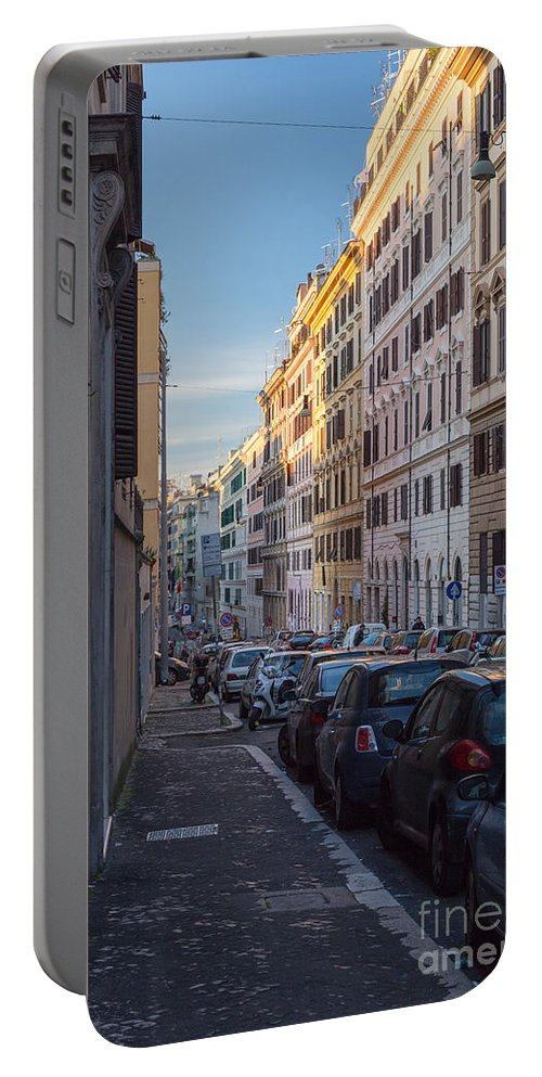 Italian Portable Battery Charger featuring the photograph Roman Street by Jannis Werner