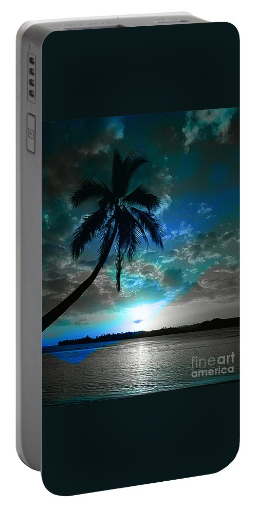 Digital Image Portable Battery Charger featuring the digital art Romance I by Yael VanGruber