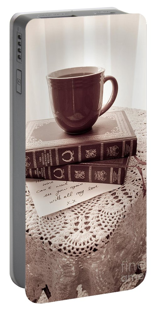 Romantic Portable Battery Charger featuring the photograph Romance Series 1 by Robin Lynne Schwind