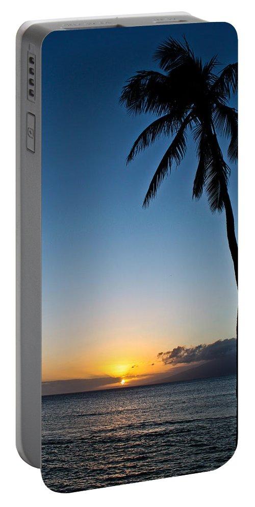 Romantic Maui Sunset Photographs Portable Battery Charger featuring the photograph Romantic Maui Sunset by Joann Copeland-Paul
