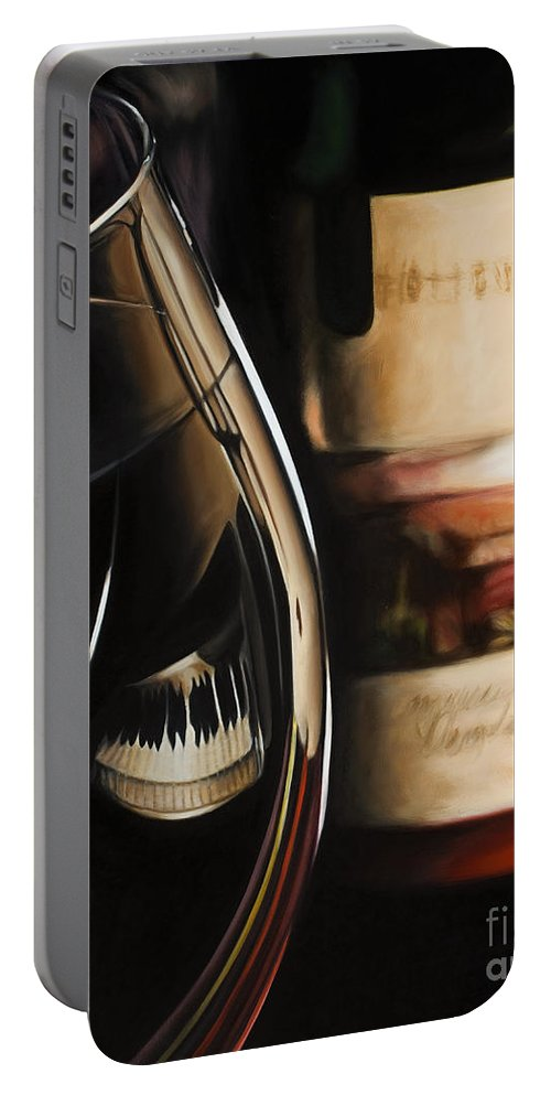 Music Portable Battery Charger featuring the painting Romantic Reflections by Ann Holder