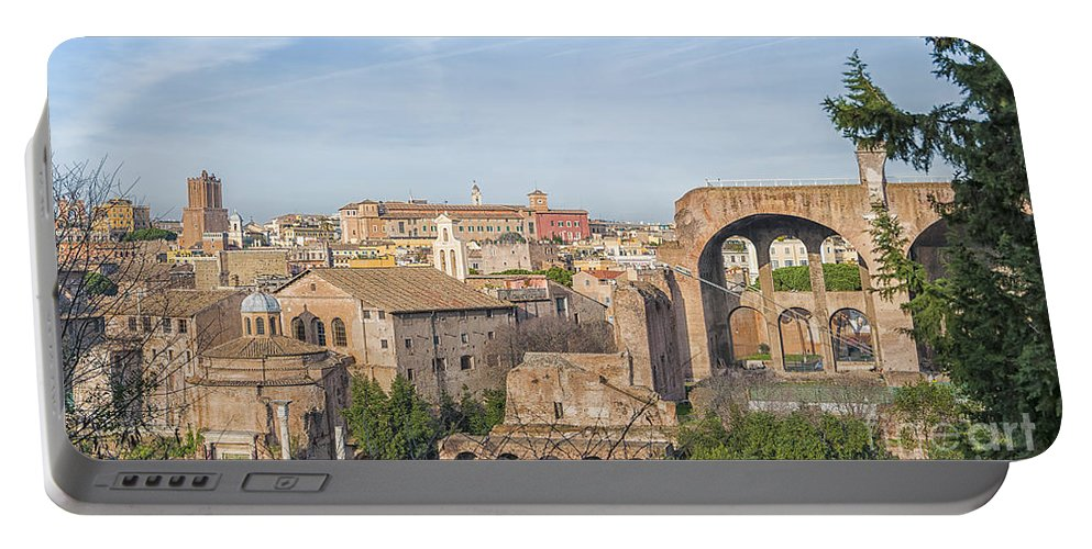 Rome Portable Battery Charger featuring the photograph Rome Roman Forum 01 by Antony McAulay