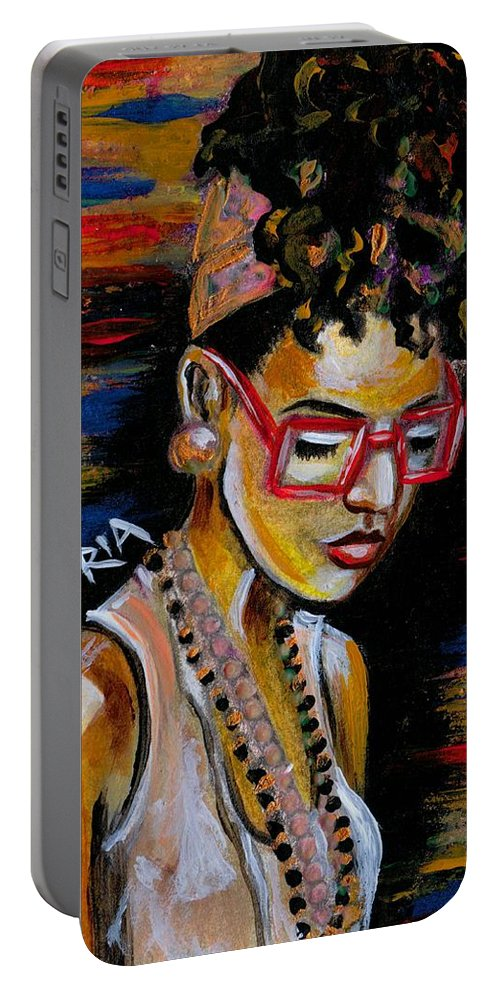 Beautiful Portable Battery Charger featuring the photograph Romy by Artist RiA