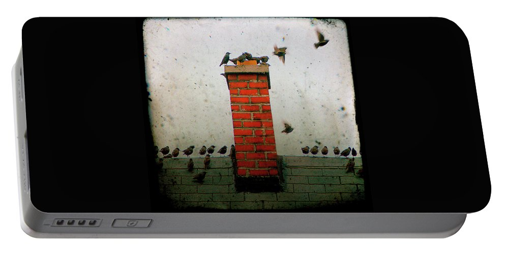Roof Portable Battery Charger featuring the photograph Roof Top Hoppers by Gothicrow Images