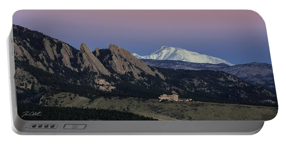Longs Peak Portable Battery Charger featuring the photograph Room With A View by Jon Blake