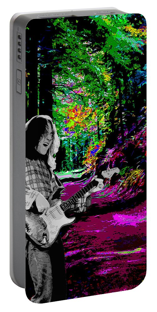 Rock Musicians Portable Battery Charger featuring the photograph Rockin' On Mt Tamalpais by Ben Upham
