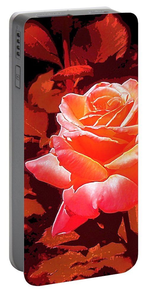 Rose Portable Battery Charger featuring the photograph Rose 1 by Pamela Cooper