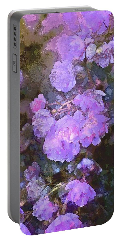 Floral Portable Battery Charger featuring the photograph Rose 238 by Pamela Cooper