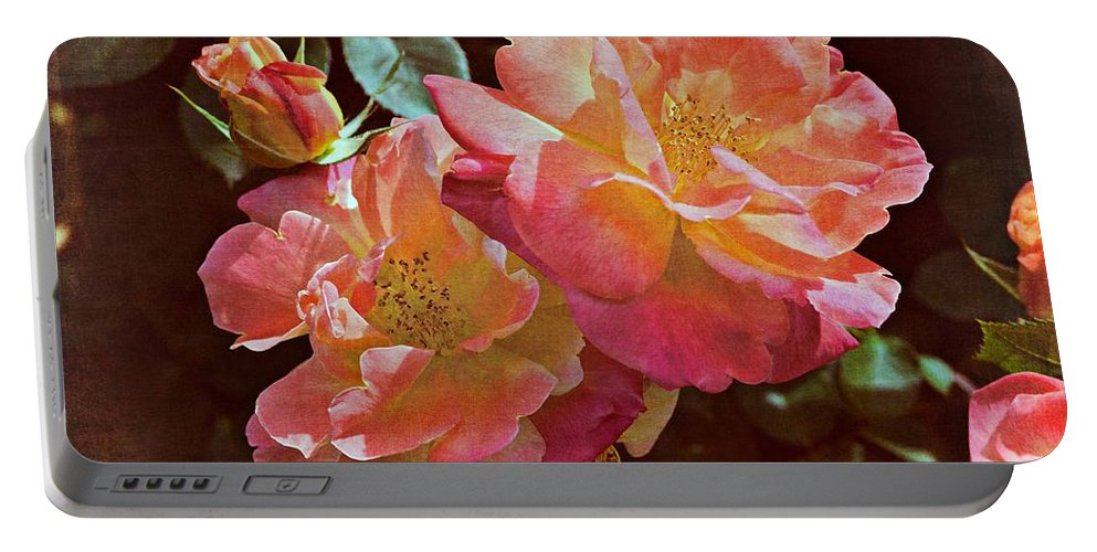 Floral Portable Battery Charger featuring the photograph Rose 265 by Pamela Cooper