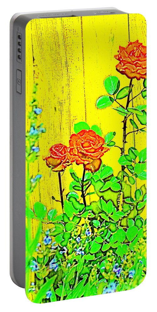 Floral Portable Battery Charger featuring the photograph Rose 9 by Pamela Cooper