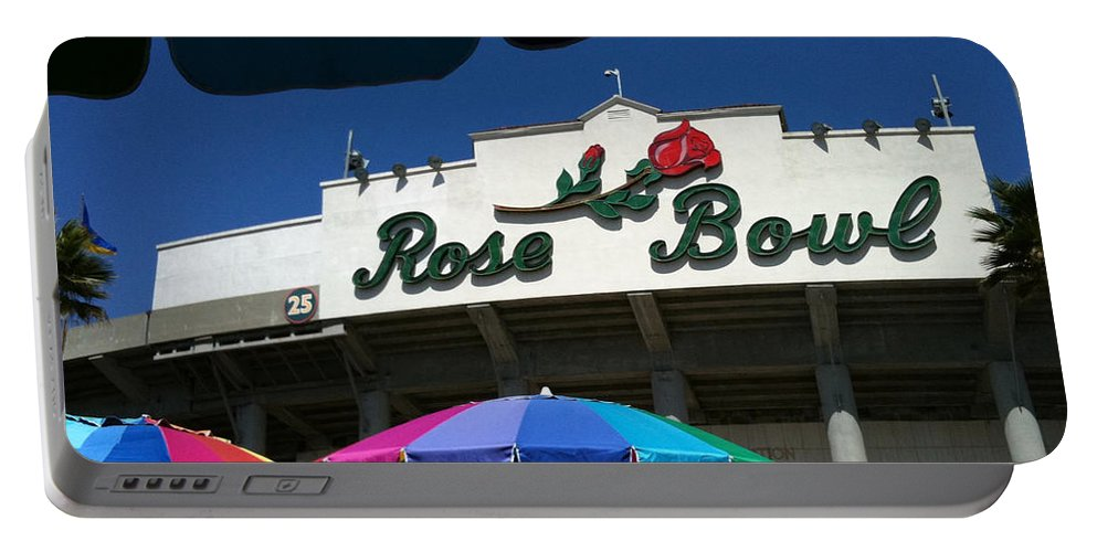 Portable Battery Charger featuring the photograph Rose Bowl by Jennifer Ann Henry