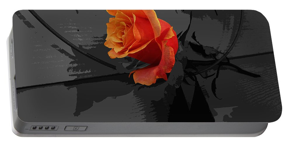 Rose Portable Battery Charger featuring the photograph Rose IIi - A Message by Xueling Zou