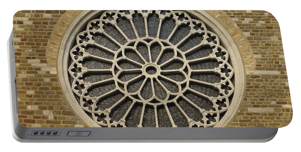 Saint Justus Portable Battery Charger featuring the photograph Rose Of The Cathedral Of San Giusto by Riccardo Mottola