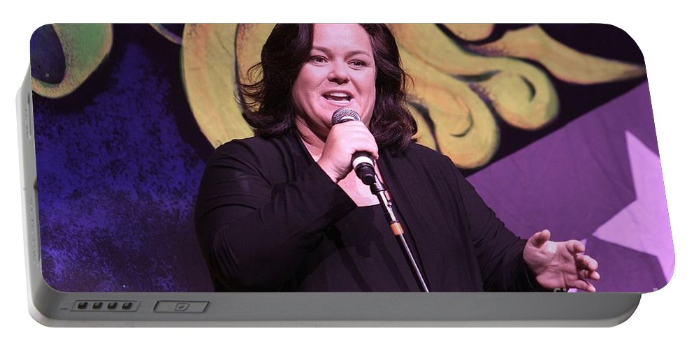 Comdey Portable Battery Charger featuring the photograph Rosie O'donnell by Concert Photos