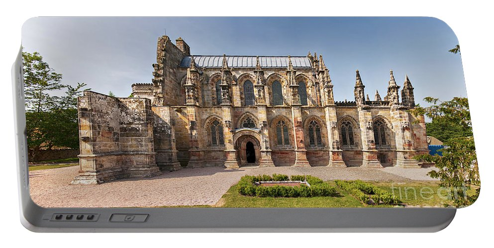 Vinci Portable Battery Charger featuring the photograph Rosslyn Chapel 01 by Antony McAulay