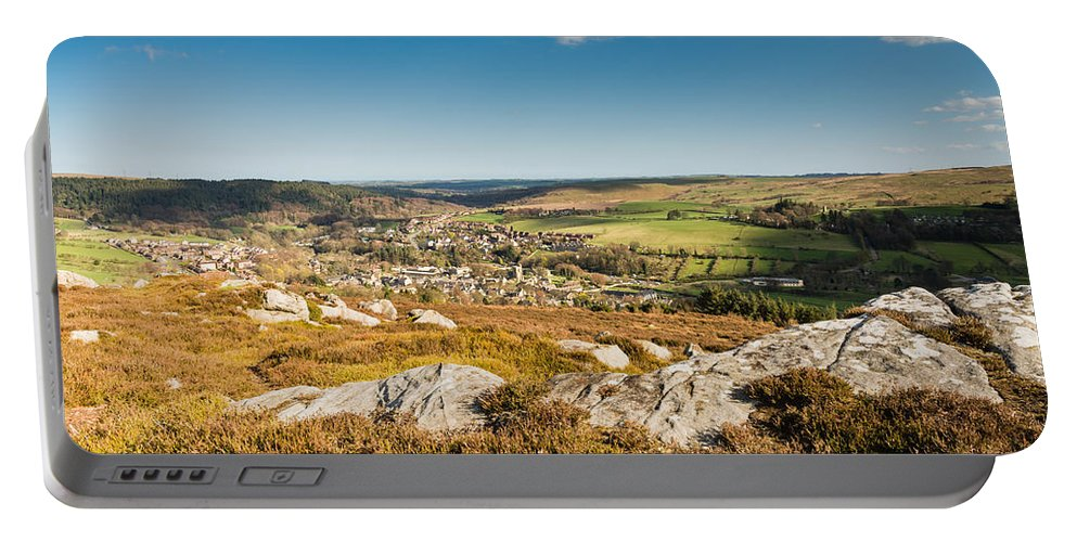Northumberland Portable Battery Charger featuring the photograph Rothbury Town From The Terraces by David Head