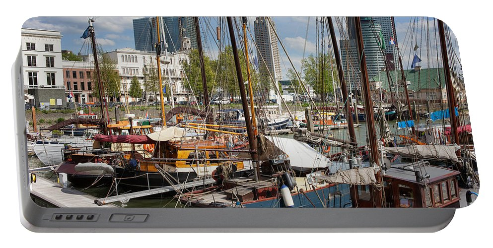 Rotterdam Portable Battery Charger featuring the photograph Rotterdam City Marina by Artur Bogacki