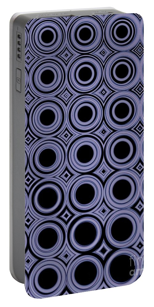 Circles Portable Battery Charger featuring the digital art Round In Circles by Sharon Woerner