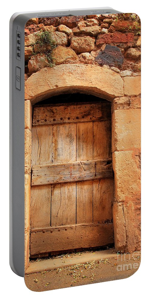 Europe Portable Battery Charger featuring the photograph Roussillon Door by Inge Johnsson