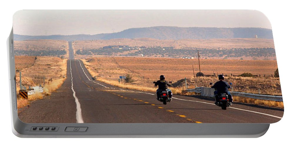 Landscape Portable Battery Charger featuring the photograph Route 66 by Alex Cassels