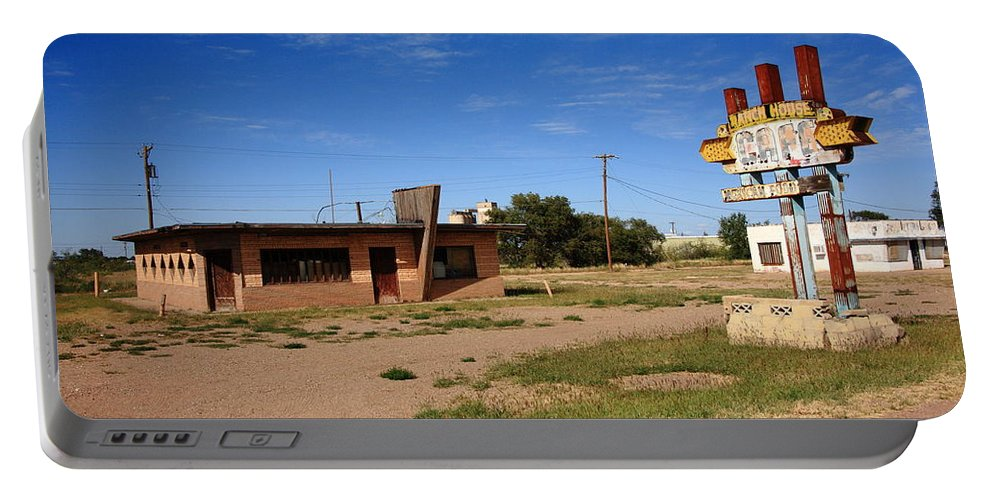 66 Portable Battery Charger featuring the photograph Route 66 Cafe by Frank Romeo