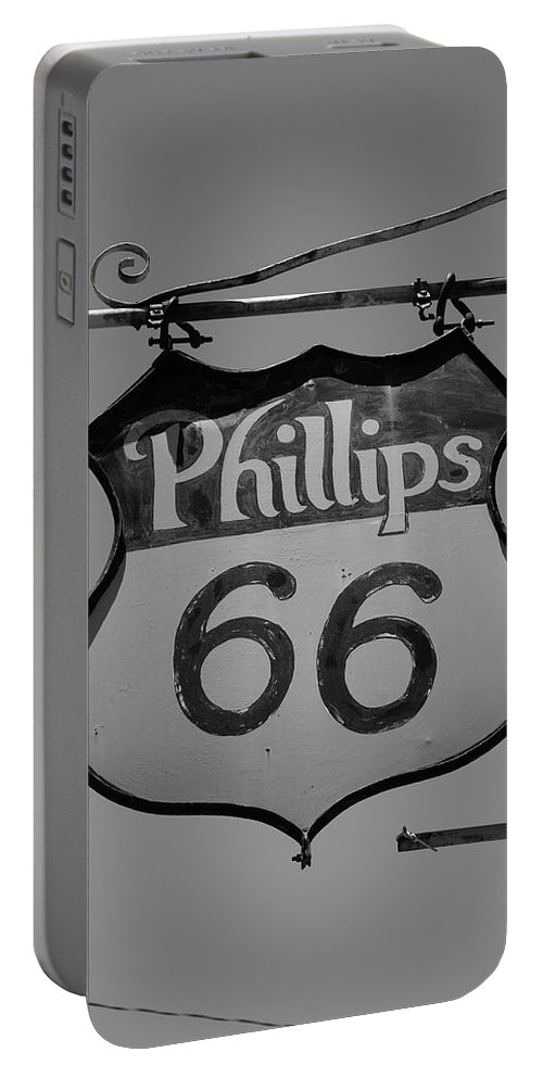 66 Portable Battery Charger featuring the photograph Route 66 - Phillips 66 Petroleum by Frank Romeo