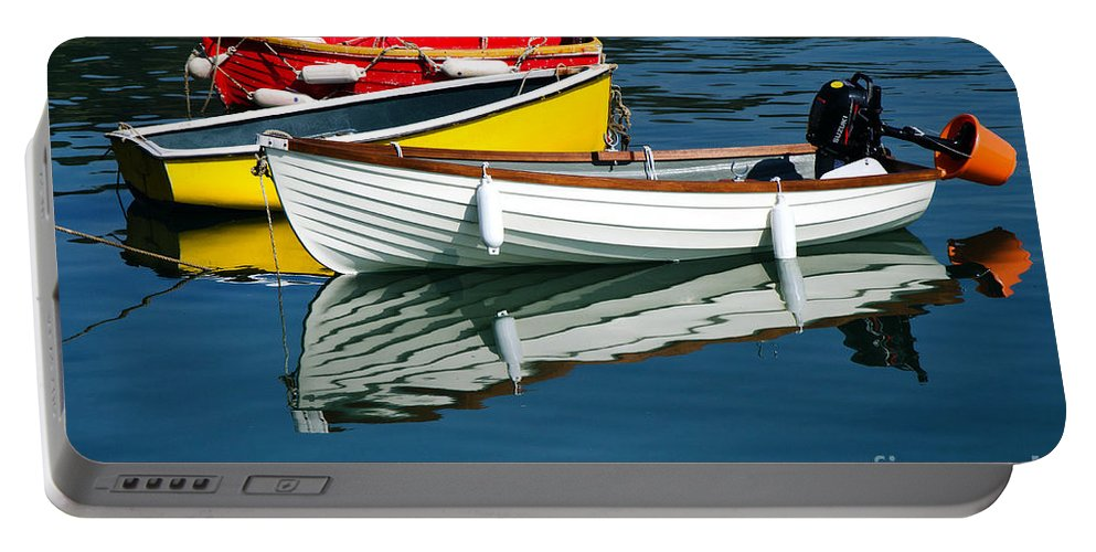 Row Boats Portable Battery Charger featuring the photograph Row-boats by Susie Peek