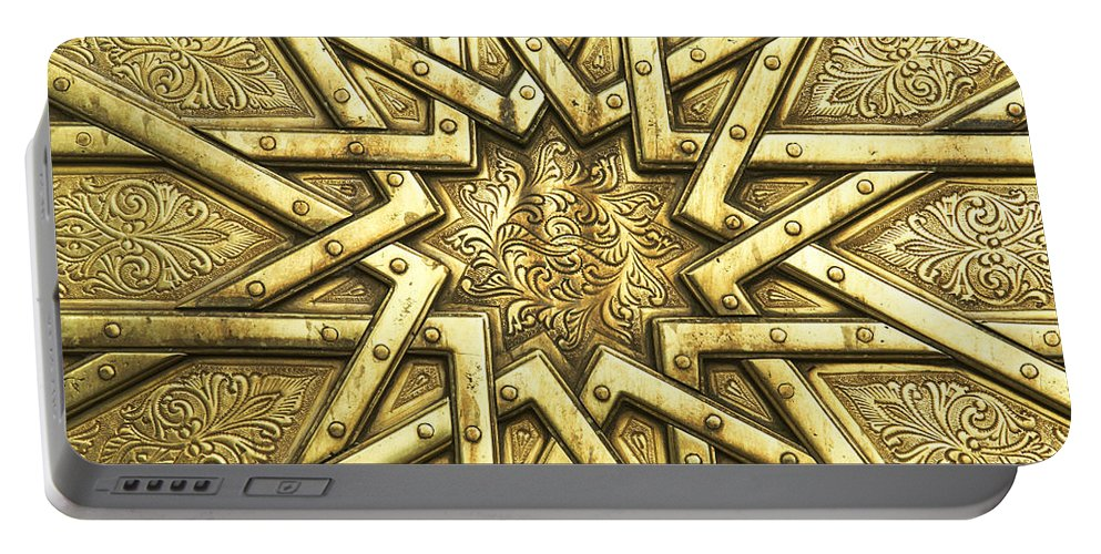Fes Portable Battery Charger featuring the photograph Royal Palace Fes Morocco by Ruth Hofshi