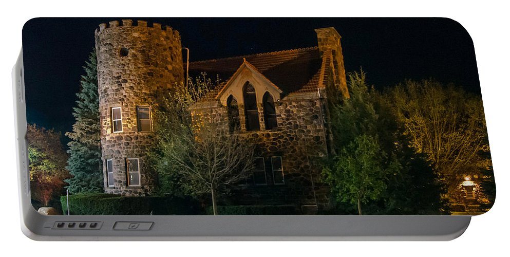 Buildings Portable Battery Charger featuring the photograph Roycroft Chapel by Guy Whiteley
