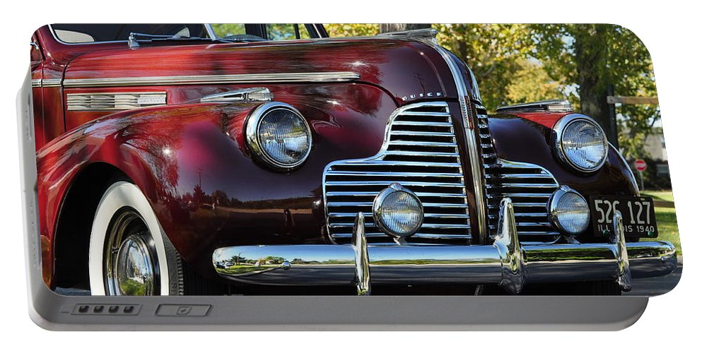 Red Portable Battery Charger featuring the photograph Ruby Red Buick by Thomas Shockey