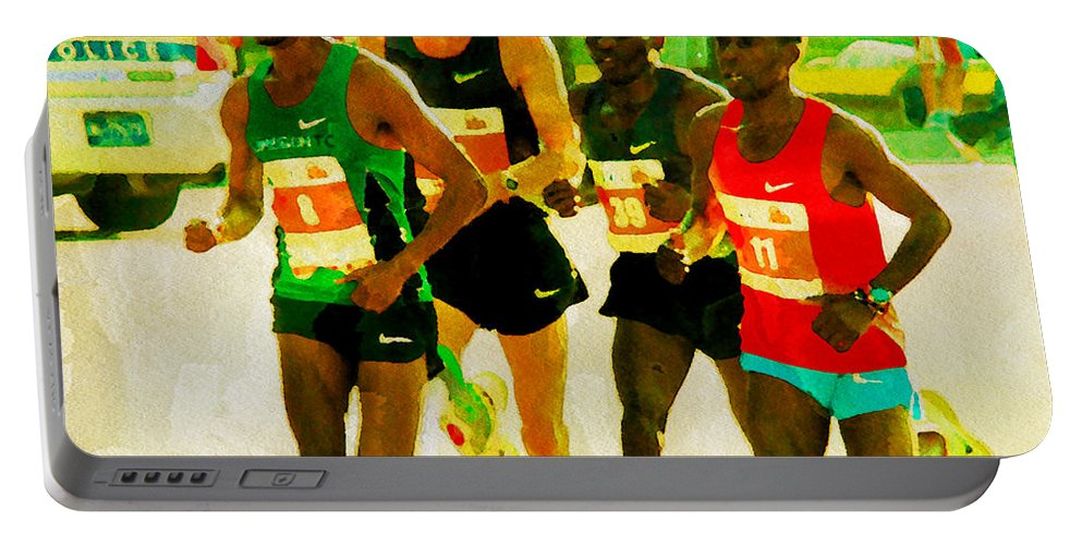 Runners Portable Battery Charger featuring the photograph Runners by Alice Gipson